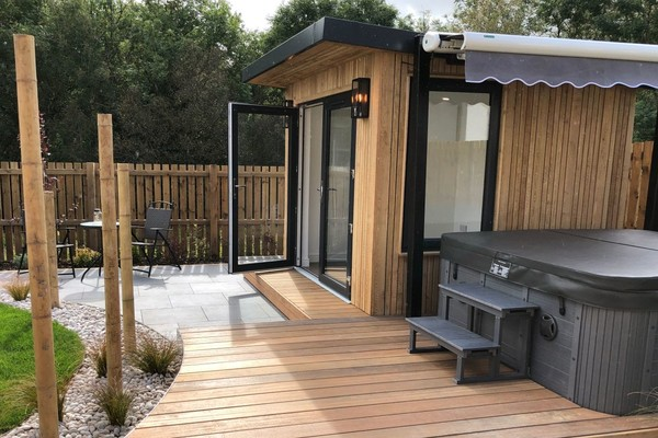 Decking for hot tub